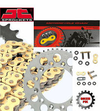 Suzuki GS550 B,N 77-79 GOLD Extra Heavy Duty X-Ring Chain and Sprocket Set Kit