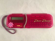Tiger Electronics Dear Diary PINK Girls Electronic Journal Tested & Works