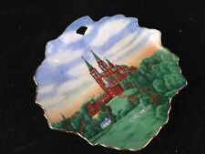 VINTAGE EARLY WHEELOCK HOLLYHILL WISCONSIN SOUVENIR CHINA BUTTER PAT DISH