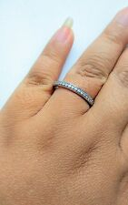 Estate Jewelry 14k White Gold Chanel Setting Diamond Ring Size 9.75, 2.4 Grams