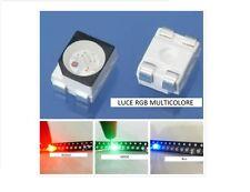 10 LED SMD 3528 RGB luce MULTICOLORE Alta luminosità 6500K 0,2W diodi PLCC