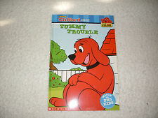 Kids new paperback gr K-2:Tummy Trouble-Clifford Big Red Dog Reader-2many treats