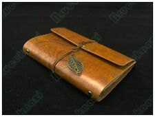 "7""x5"" Refillable journal Books Handmade Vintage Classic Leather Notebook Brown"