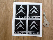 CITROEN Chevron Car STICKERS Black & Silver 52mm Set of 4 AX GT C2 C3 C4 2CV
