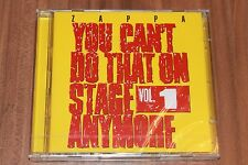 Zappa-You can 't do that on stage anymore vol.1 (2012) (2xcd) (0238772) (Nuovo + OVP)