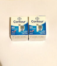 NEW* 2 Boxes OF 50! BAYER CONTOUR 100 TEST STRIPS! EXP 5/2018 AND LONGER!!