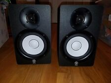 Yamaha HS50M 120V 45W 60Hz w/ Power Cable and Stereo/Aux Cable Pair of 2|AMCI100