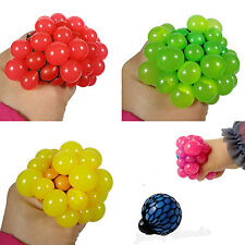 1X Novelty Squishy Mesh Abreact Ball Squeeze Anti Stress Toy For Kids Gift