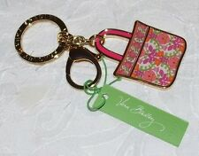 Vera Bradley Tote Around Key ring  Keychain in Lilli Bell Keyring and Clip New