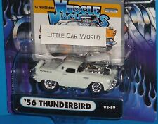 2002 MUSCLE MACHINES '56 Ford Thunderbird #02-89 Real Riders T-Bird