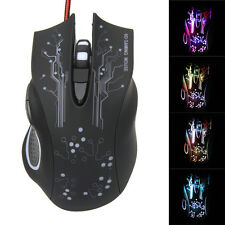 3200DPI LED Optical USB Wired Game Mouse 6D Buttons for Pro Game Windows 7 8 XP