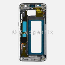 Black Samsung Galaxy S7 Edge G935A G935T Middle Housing Frame Bezel Mid Chassis