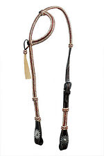 Western Natural One Ear Rawhide Braided Headstall with Natural Tassel/Conchos