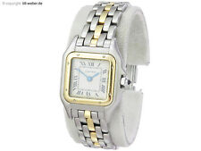 "Cartier ""Panthere"" Damenuhr Stahl Gold"