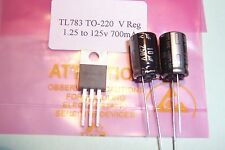 TL783 TL783C 1.25 to 125V  700mA  Voltage regulator with capacitors Qty. 1 New