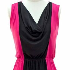COLOR BLOCK DRESS FUSCHUA/ BLACK SIZE LARGE