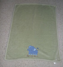 Messages From The Heart Green Baby Blanket Elephant Tons Of Love 36 x 29