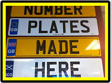 Scotland Badged Car Number Plates Registration plates & Show Plate Fast P&P