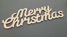 S3 MERRY CHRISTMAS MDF Sign Quote Laser Cut Embellishments Wooden Craft Shapes