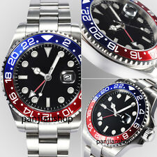 sapphire glass red&blue Ceramic bezel 43mm parnis automatic GMT Date men watch