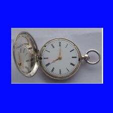 Stunning Miniature Silver Swiss :Lepine Hunter Watch 1865