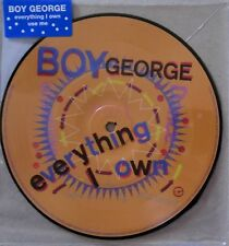 """BOY GEORGE * EVERYTHING I OWN * UK LIMITED 7"""" PICTURE DISC * BN&M! * VIRGIN 40"""