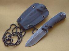 Couteau De Cou Mtech Neck Knife Lame Acier 440 Stonewash Manche G-10 MT2030BK