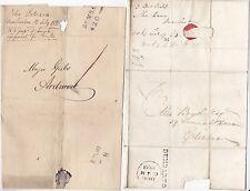* 1826/33 2 Diff Dumbarton MATASELLOS 1d y 8 1/2 D tasas Envoltura & E/L Ardmore & Edinb