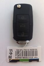 VW Remote FLIP KEY 1J0 959 753 G. Golf Caddy Eos Jetta Scirocco Tiguan Touran