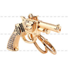 New Cool Crystal Rhinestone Gun Keyring Pendant Chain Bag Key Ring Keychain Gift