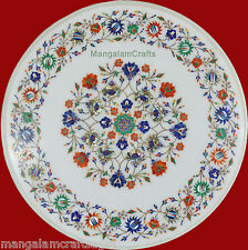 2' Marble Table Top Handmade Inlay Pietra Dura Art Craft Home Decor for Gifts