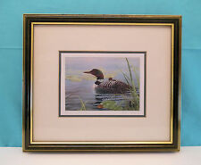 "Luke Raffin's Limited Edition ""Loon Family"" Framed Print  Artist Signed 1989"