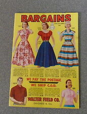 'BARGAINS' SPRING AND SUMMER 1958 by WALTER FIELD & Co - CHICAGO *UK POST £3.25*