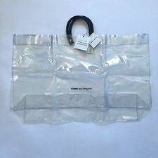 NWT Comme Des Garcons Japan Clear Vinyl Plastic Logo Large Tote Bag AUTHENTIC