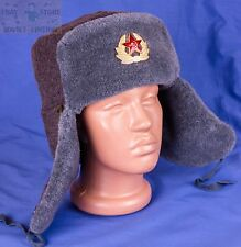 Original Russian Army Military Soviet USSR Ushanka winter hat + RED STAR size56