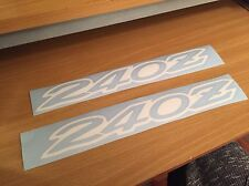 Datsun 240z sticker decal (set Of 2) White Vintage Z Stickers