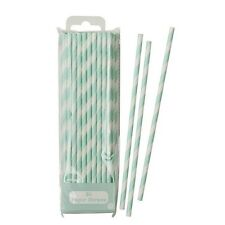 Mint Green Retro Candy Striped Straws Vintage Hen Party, Weddings