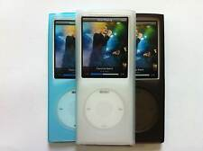 Silicone Shell cases for iPod Nano 4G x 3 - Black, Clear, Sky Blue