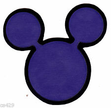 """3"""" DISNEY MICKEY MOUSE EARS PURPLE CHARACTER PREPASTED WALLPAPER BORDER CUT OUTS"""