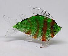Beautiful solid green glass Fish in the style of Murano