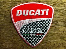 New  DUCATI Embroidered Patch Iron on, sew Decorate Racing Sports Motor Big Bike