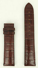Tissot PRC200 T610014577 Watch Strap Replacement T361 / T461 Brown Leather Band