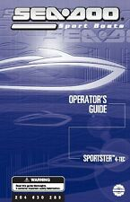 Sea-Doo Owners Manual Book 2003 Sportster 4-TEC