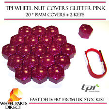 TPI Glitter Pink Wheel Nut Bolt Covers 19mm for Cadillac CTS Sedan 14-16