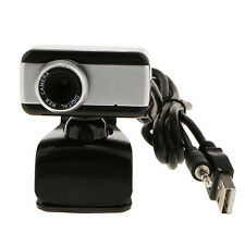 USB HD Webcam Camera With Microphone for Computer Desktop Laptop Black