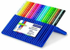 STAEDTLER ERGO SOFT PREMIUM ARTIST COLOURING PENCILS - WALLET of 24