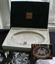"New in Box MIKASA Frosted Crystal NATIVITY 9 1/4"" Plaque Oval Plate Germany"