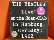 VINYL 33T X 2 – BEATLES : LIVE IN HAMBURG 1962 – BEAT 60'S – 1977 LINGASONG EPIC