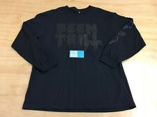 BEEN TRILL MALL RATZ LONG SLEEVE TEE SHIRT BLACK L PAC-SUN HASHTAG SKULL FLAG