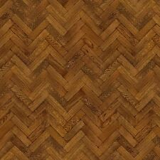 Dolls House Miniature Parquet Flooring 9 Inch Pale Cocoa Colour Oak Strip Effect